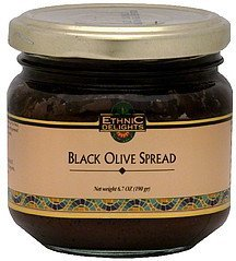 black olive spread Ethnic Delights Nutrition info