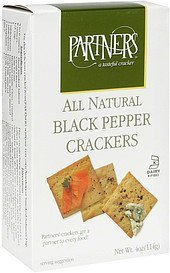 black pepper crackers all natural Partners Nutrition info