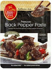 black pepper paste mild Prima Taste Nutrition info