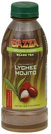 black tea natural energy, lychee mojito flavored Bazza Nutrition info