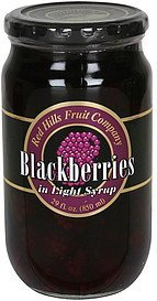 blackberries in light syrup Red Hills Fruit Company Nutrition info