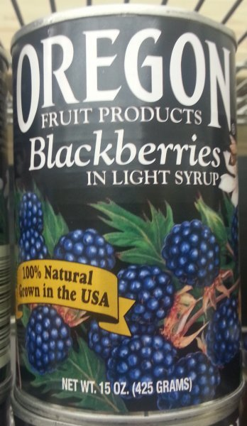 blackberries in light syrup Oregon Fruit Products Nutrition info