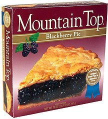 blackberry pie Mountain Top Nutrition info