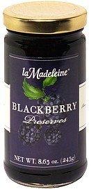 blackberry preserves La Madeleine Nutrition info