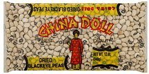blackeye peas dried China Doll Nutrition info
