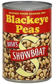 blackeye peas Showboat Nutrition info