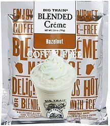 blended creme hazelnut Big train Nutrition info