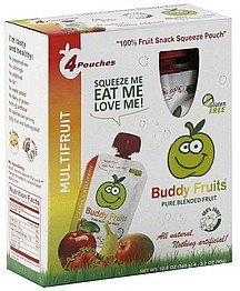 blended fruit pure, multifruit Buddy Fruits Nutrition info