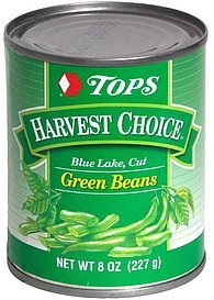 blue lake, cut green beans Hy Tops Nutrition info