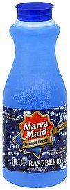 blue raspberry drink Marva Maid Nutrition info