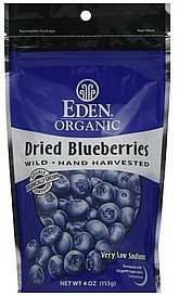 blueberries dried Eden Organic Nutrition info