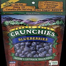 blueberries freeze dried Crunchies Nutrition info