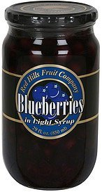 blueberries in light syrup Red Hills Fruit Company Nutrition info