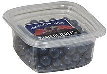 blueberries in milk chocolate Liberty Orchards Nutrition info
