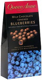 blueberries milk chocolate covered Queen Anne Nutrition info
