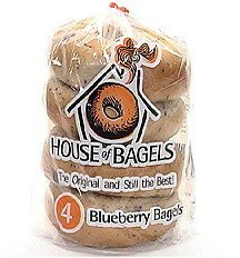 blueberry bagels House of Bagels Nutrition info