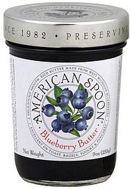blueberry butter American Spoon Nutrition info