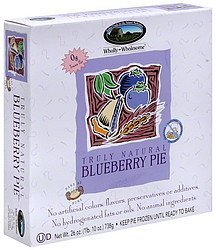 blueberry pie Wholly Wholesome Nutrition info