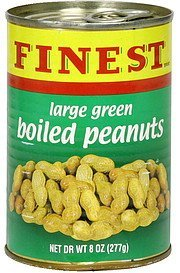 boiled peanuts large, green Finest Brand Nutrition info