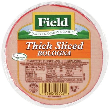 bologna thick sliced Field Nutrition info