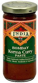 bombay korma curry paste India Select Nutrition info