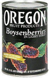 boysenberries in light syrup Oregon Fruit Products Nutrition info