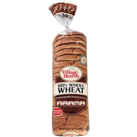 bread 100% whole wheat Village Hearth Nutrition info