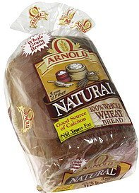 bread 100% whole wheat Arnold Nutrition info
