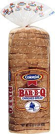 bread bar b q enriched Colonial Nutrition info