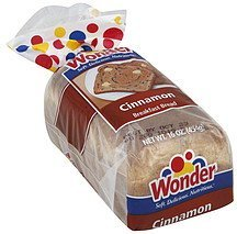 bread breakfast, cinnamon Wonder Nutrition info