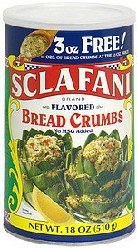 bread crumbs flavored, bonus Sclafani Nutrition info