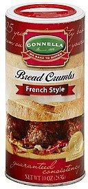 bread crumbs french style Gonnella Nutrition info