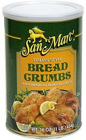 bread crumbs italian style with imported romano cheese San Marc' Nutrition info