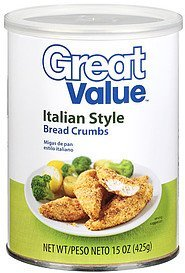 bread crumbs italian style Great Value Nutrition info
