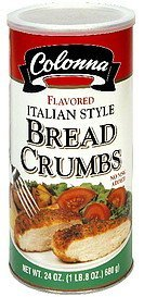 bread crumbs italian style Colonna Nutrition info