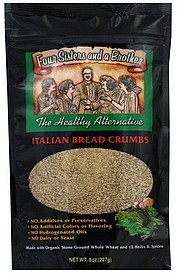 bread crumbs italian Four Sisters And A Brother Nutrition info
