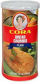 bread crumbs plain Cora Nutrition info