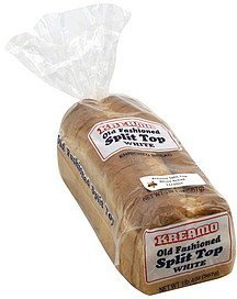bread enriched, old fashioned, split top, white Kreamo Nutrition info