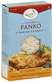 bread flakes panko, plain Jeff Nathan Creations Nutrition info