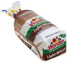 bread light, wheat Wonder Nutrition info