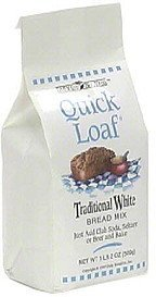 bread mix traditional white Quick Loaf Nutrition info
