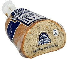 bread original caraway rye Brenner Brothers Baking Company Nutrition info