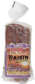 bread raisin with imported cinnamon Old Tyme Nutrition info