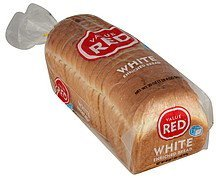 bread white enriched Value Red Nutrition info
