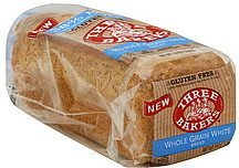bread whole grain, white Three Bakers Nutrition info