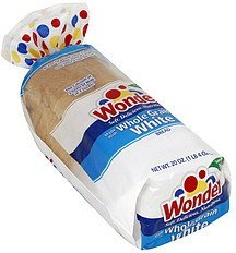 bread whole grain, white Wonder Nutrition info