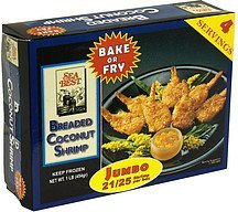 breaded coconut shrimp jumbo Sea Best Nutrition info