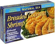 breaded coconut shrimp Natural Sea Nutrition info
