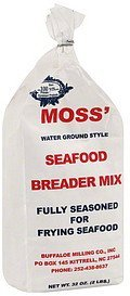 breader mix seafood, water ground style Moss Nutrition info