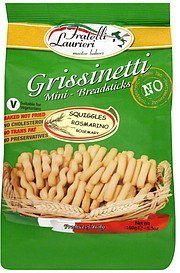 breadsticks mini, grissinetti, squiggles with rosemary Fratelli Laurieri Nutrition info